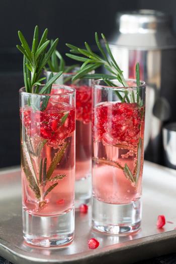 Pomegranate and Rosemary Gin Whisper